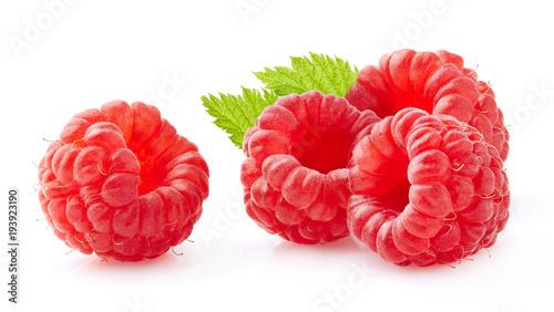Raspberry in closeup