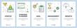 Vector modern thin line startup vertical web banner set