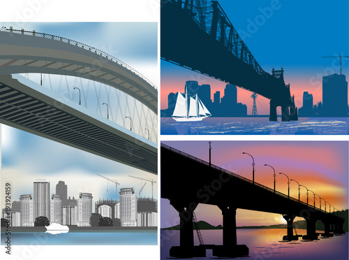 mata magnetyczna three bridge compositions illustration