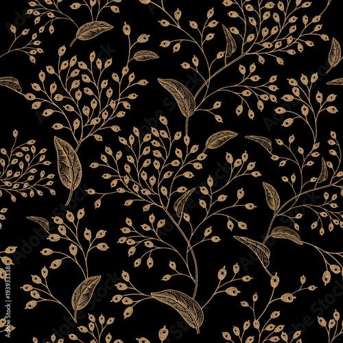 Floral vintage seamless pattern. - 193933338