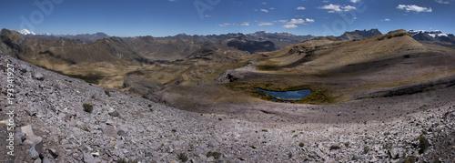 Deurstickers Panoramafoto s Huascaran Andes Peru. Mountains