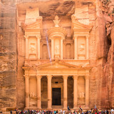 The treasury of Petra, one of seven wonders of the world, Jordan - 193943110