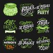 St Patrick green symbol for irish holiday design