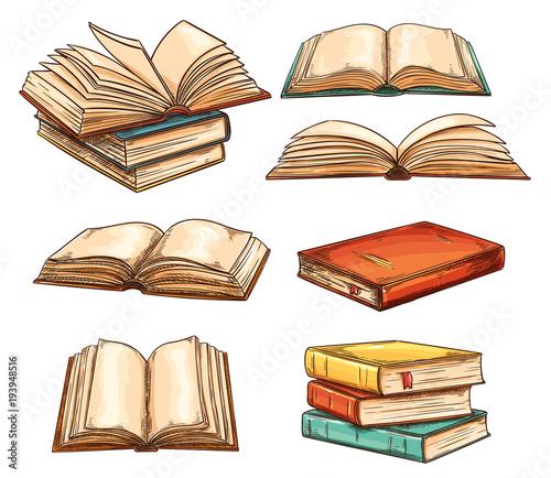 Vector books set
