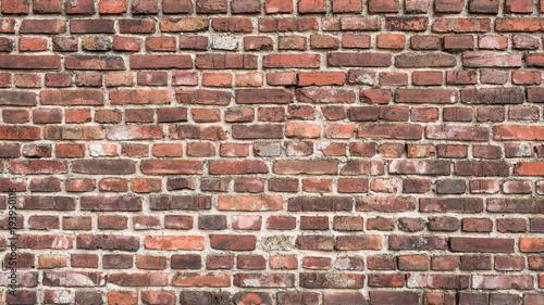 Poster Stenen Old Brick Wall Background