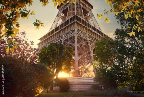 Staande foto Parijs Eiffel Tower in the autumn