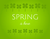 Spring is here green background