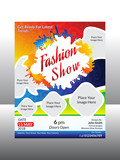 abstract artistic creative fashion flyer