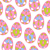 Seamless vector pattern with mosaic easter eggs.