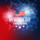 Memorial Day Background Template Vector Illustration - 193966392