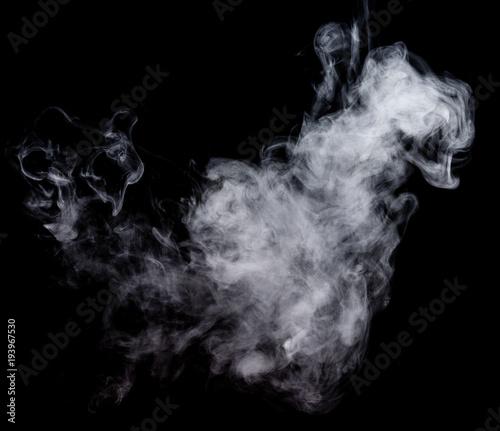 White smoke on a black background. Screen blend mode.