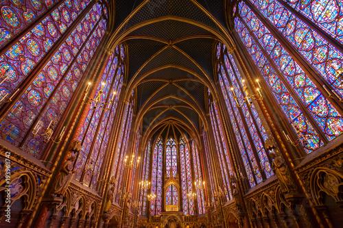 Fridge magnet Stained glass windows of Saint Chapelle