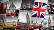 Collage of the symbols of London, the UK - 193972112