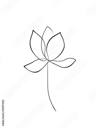 Lotus outline icon