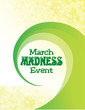 March Madness Event Poster with Green Swirl