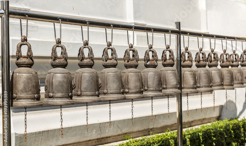 Fotobehang Thailand Thai style bells at Temple in Thailand.