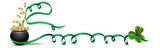 Happy Saint Patrick's Day  Greeting Card  Ribbon Wall Sticker