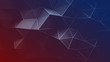 Red and blue triangular polygons 3D rendering