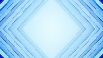 Frame of blue lines absrtact 3D rendering