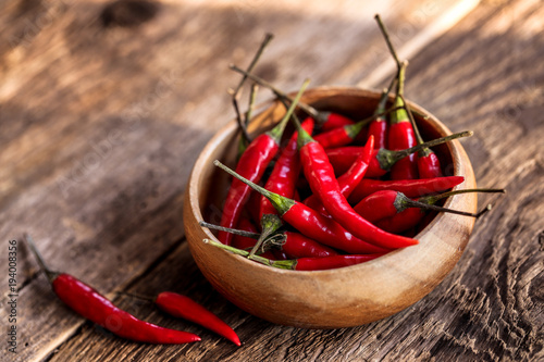 Deurstickers Hot chili peppers assortiment de piments oiseau