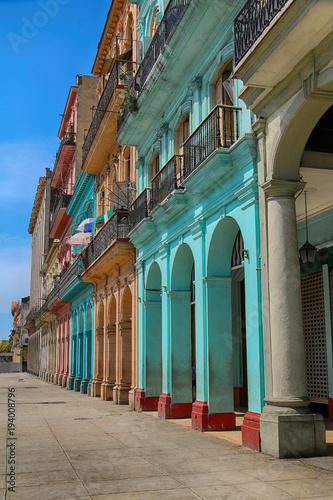 Staande foto Havana Cuba. Old Havana street