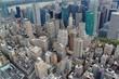 Ariel view on Manhattan.New York.USA.Beautiful background. - 194015125
