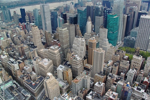 Tuinposter New York Ariel view on Manhattan.New York.USA.Beautiful background.
