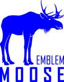 Moose Bull Logo Label Emblem Wall Sticker