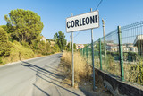 Corleone street sign in Sicily, Italy