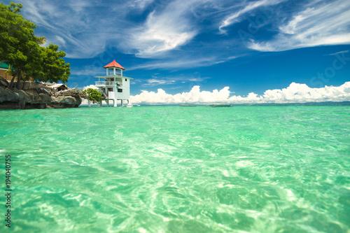 Deurstickers Tropical strand A small island between Cebu and Bohol