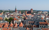 Rooftops across the medieval old town of Torun, Poland