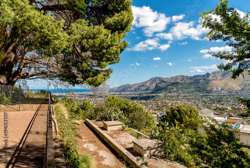Keuken foto achterwand Palermo View on Palermo city from Monreale, Sicily, Italy