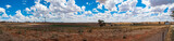 Panorama of rural paddock. Countryside, agriculture landscape - 194058144