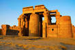 Partial view of the Temple of Kom Ombo, Is an unusual double temple, It was constructed during the Ptolemaic dynasty, 180–47 BC