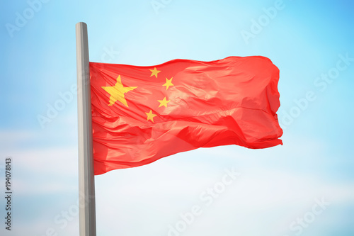 Foto op Canvas Peking Chinese flag