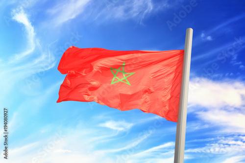 Papiers peints Maroc Moroccan flag