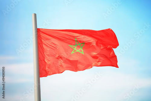 Staande foto Marokko Moroccan flag