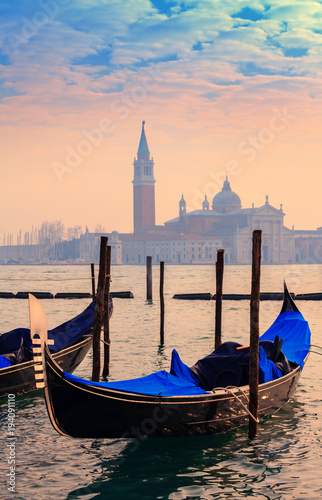 Foto op Canvas Venetie View on the lagoon and the island of San Giorgio Maggiore, from St. Mark's Square