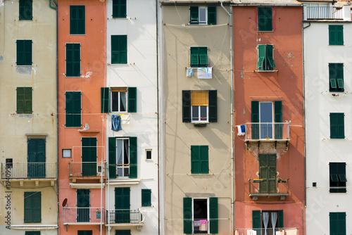Fotobehang Liguria Colorful Houses in Porto Venere or Portovenere - Liguria Italy