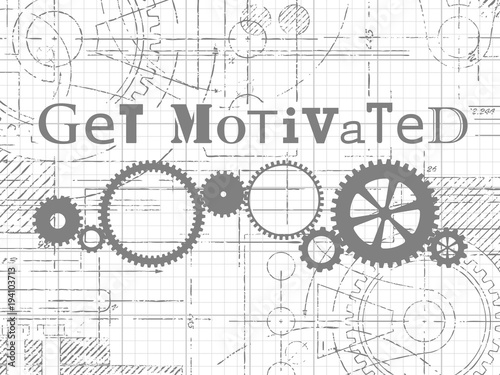 Get Motivated Graph Paper Tech Drawing