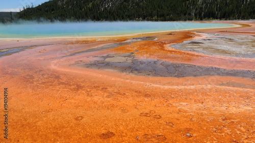 In de dag Oranje eclat Yellowstone National Park