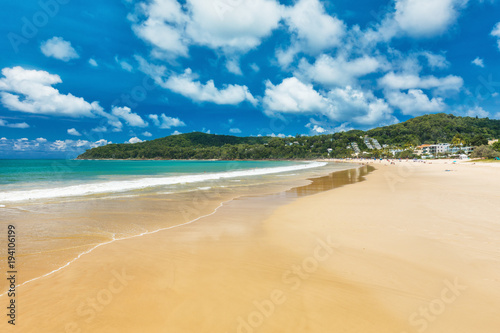 Summer at Noosa main beach - a tourist destination in Queensland, Australia.