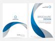 Brochure template flyer design vector background