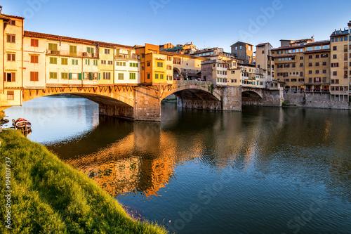 Foto op Aluminium Toscane Ponte Vecchio a Firenze