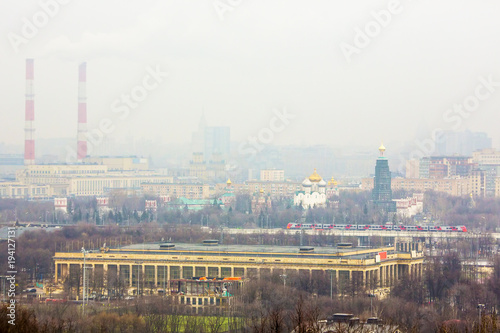 Aluminium Moskou Air pollution from industrial pipes in Moscow