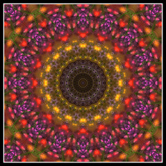 abstrakt fraktal mandala design