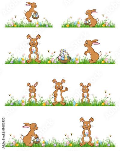 Zestaw Happy Easter Banery z Bunnies & Eggs