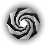 Fototapeta  - Inside triangular black white twisting tunnel form. Vector background. © Anatoly Stojko