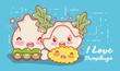 I love dumplings gastronomy