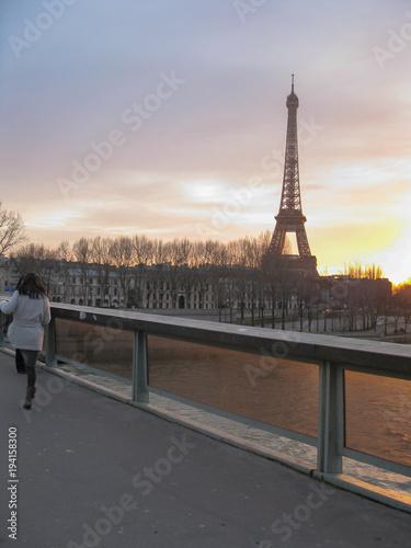 Fotobehang Eiffeltoren the Eiffel tower in Paris
